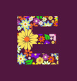 letter of beautiful flowers e vector image