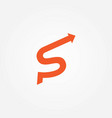 letter s arrow style logo vector image vector image