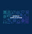 mobile application outline colored vector image vector image