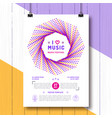 music festival party poster template a4 size arts vector image