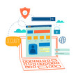 online security data protection vector image