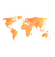orange political map of world each state with own vector image vector image