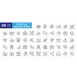 outline web icons set - search engine vector image vector image
