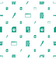 page icons pattern seamless white background vector image vector image