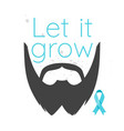 prostate cancer awareness month poster vector image vector image