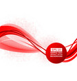 red wave abstract background with vector image vector image