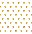 Seamless Pattern With Golden Hearts vector image vector image
