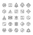 set abstract linear hipster tribal vector image vector image