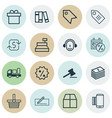set of 16 e-commerce icons includes pannier vector image vector image