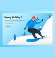 snowboard winter sport vector image