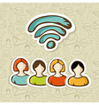 Social media RSS interaction vector image vector image