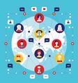 social network concept global communication vector image vector image