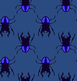 stag beetle seamless pattern vector image vector image