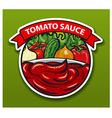 sticker of tomato sauce vector image vector image