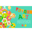 themed kids art poster vector image vector image