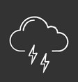 thunderstorm chalk icon vector image vector image