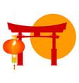 tori gate icon vector image