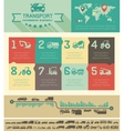 Transportation Infographic Template vector image vector image