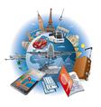travel around world vector image vector image