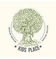 tree house house on tree for kids children vector image