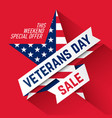 veterans day sale banner vector image vector image
