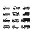 set of icons of trucks vector image
