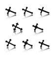 Collection of crosses vector image