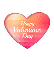 Valentine triangle heart background vector image