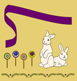 0315 3 rabbits with candy v vector image