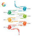 abstract 6 steps road timeline infographic vector image vector image