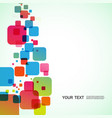 abstract bright squares on a white background vector image