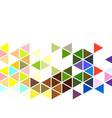 abstract colorful geometric background on white vector image