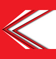 abstract white red arrow speed modern vector image vector image