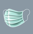 antibacterial mask on a gray background in 3d vector image vector image