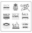 back to school logos set doodle hand drawn label vector image vector image