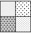 Black and white simple ethnic geometric seamless vector image vector image