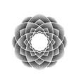 black dots flower vector image vector image