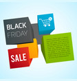 black friday design template vector image vector image