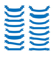 Blue ribbon banners set Beautiful blank for vector image vector image