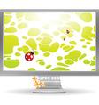 bright abstract computer screen saver vector image vector image