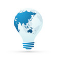 bulb with globe blue abstract business concept vector image