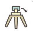 camcorder tripod icon vector image