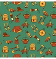 Camping holiday seamless pattern vector image vector image