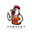 chicken cartoon logo vector image