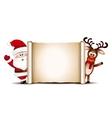 christmas card design template santa claus vector image vector image