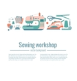 colorful sewing workshop concept vector image vector image