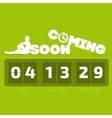 Comming soon with countdown timer vector image vector image