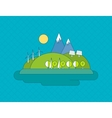 Concept of green energy vector image vector image