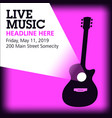 cool live acoustic guitar show graphic vector image vector image