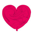 Decorative pink heart vector image